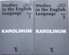 Studies in the English language 1, 2